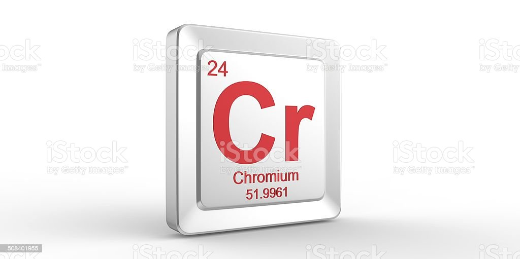 Cr Symbol 24 Material For Chromium Chemical Element Stock Photo