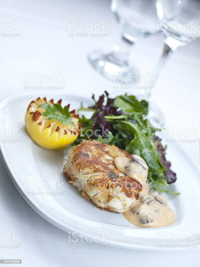 Crab Cakes royalty-free stock photo