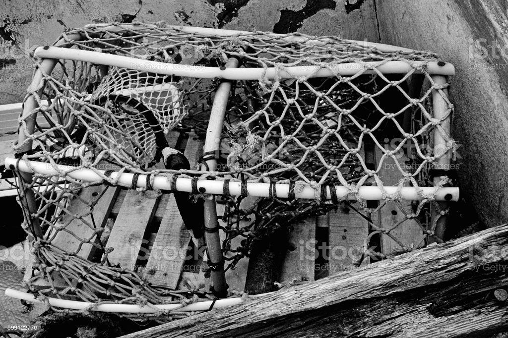 Crab creel stock photo