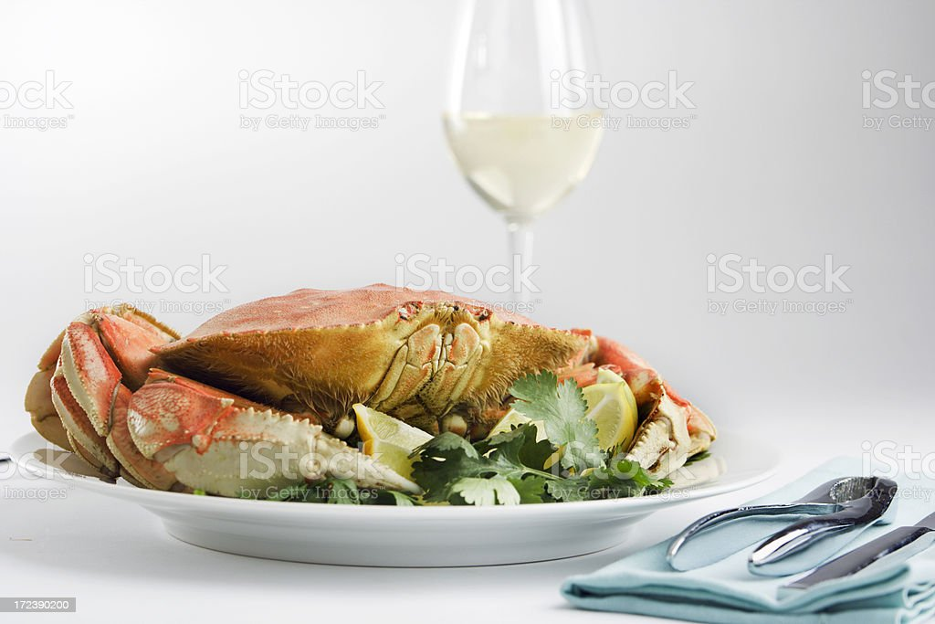 Crab Dinner royalty-free stock photo