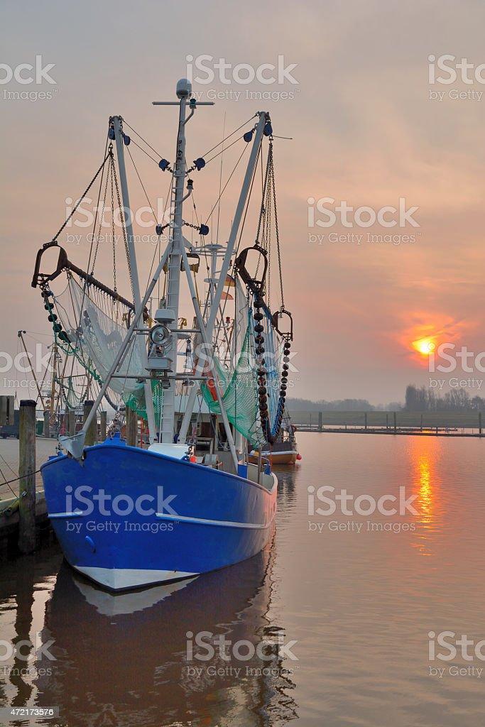 Crab Fishing Trawler,Greetsiel,East Frisia,Germany stock photo