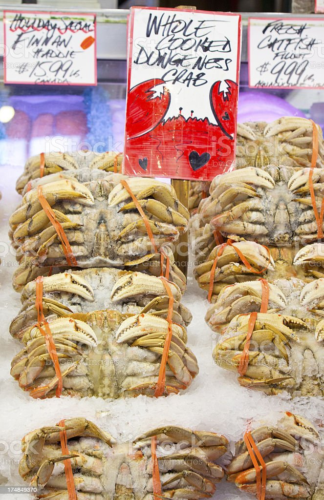 Crab For Sale At Fish Market royalty-free stock photo