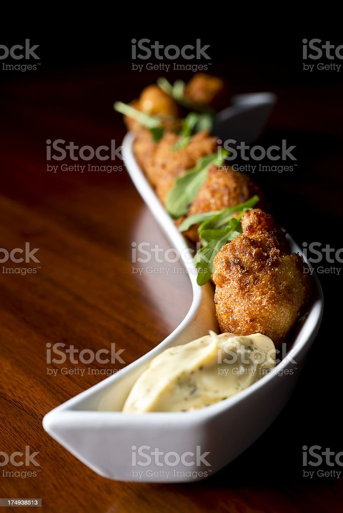 Crab Fritter royalty-free stock photo