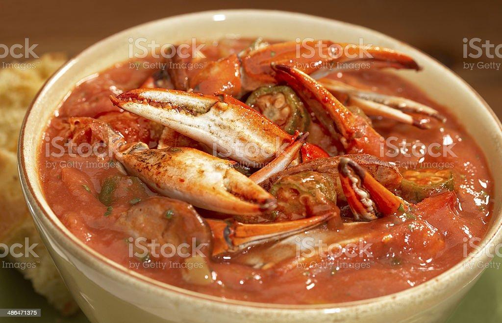 Crab Gumbo stock photo