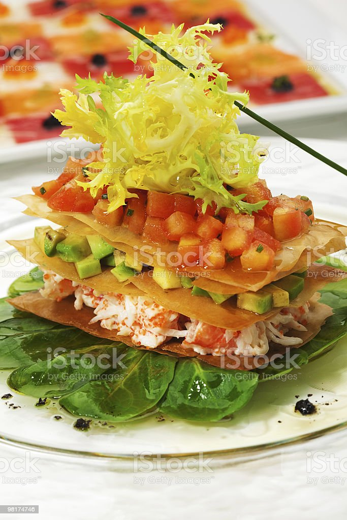 Crab Meat Salad royalty-free stock photo