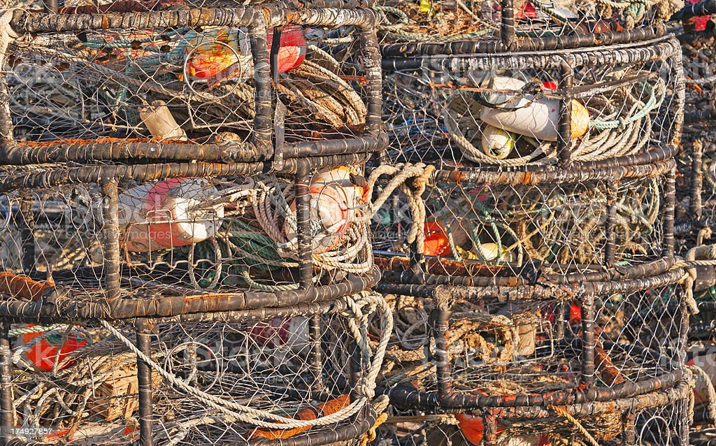 Crab Nets stock photo