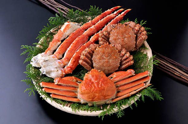 カニ - crabe photos et images de collection