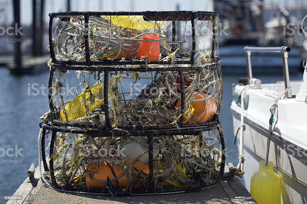 Crab Pots stock photo