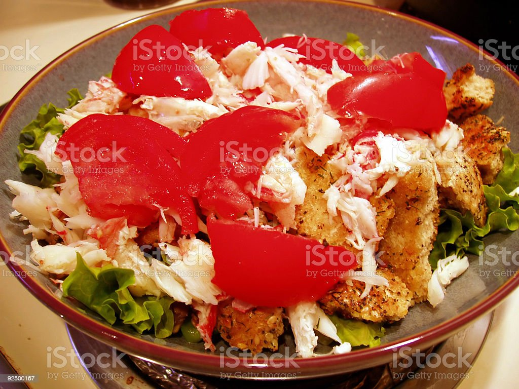 Crab Salad II - Gourmet Food royalty-free stock photo