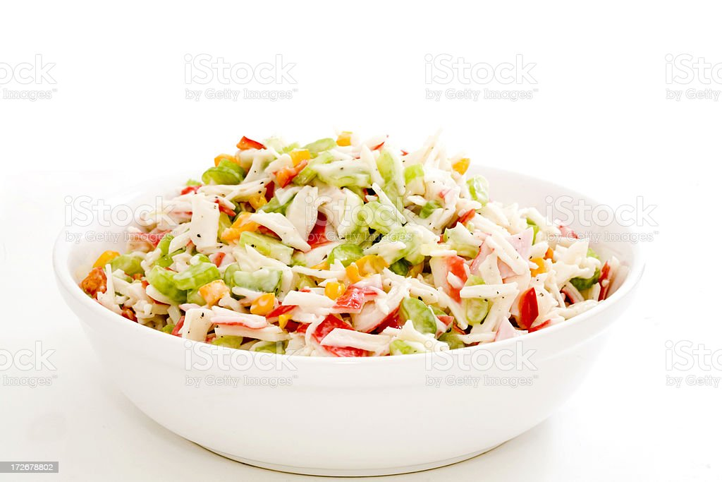 Crab Salad In A Bowl stock photo