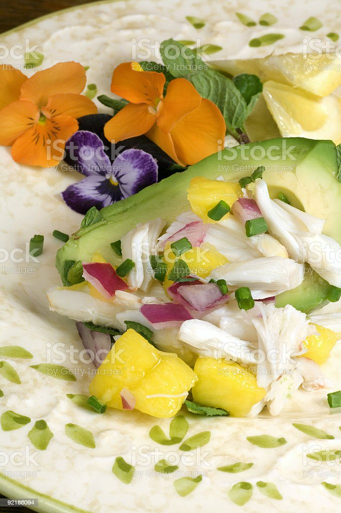 Crab Salad in Avocado royalty-free stock photo