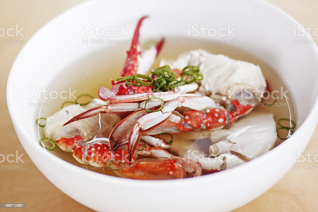 crab soup stock photo