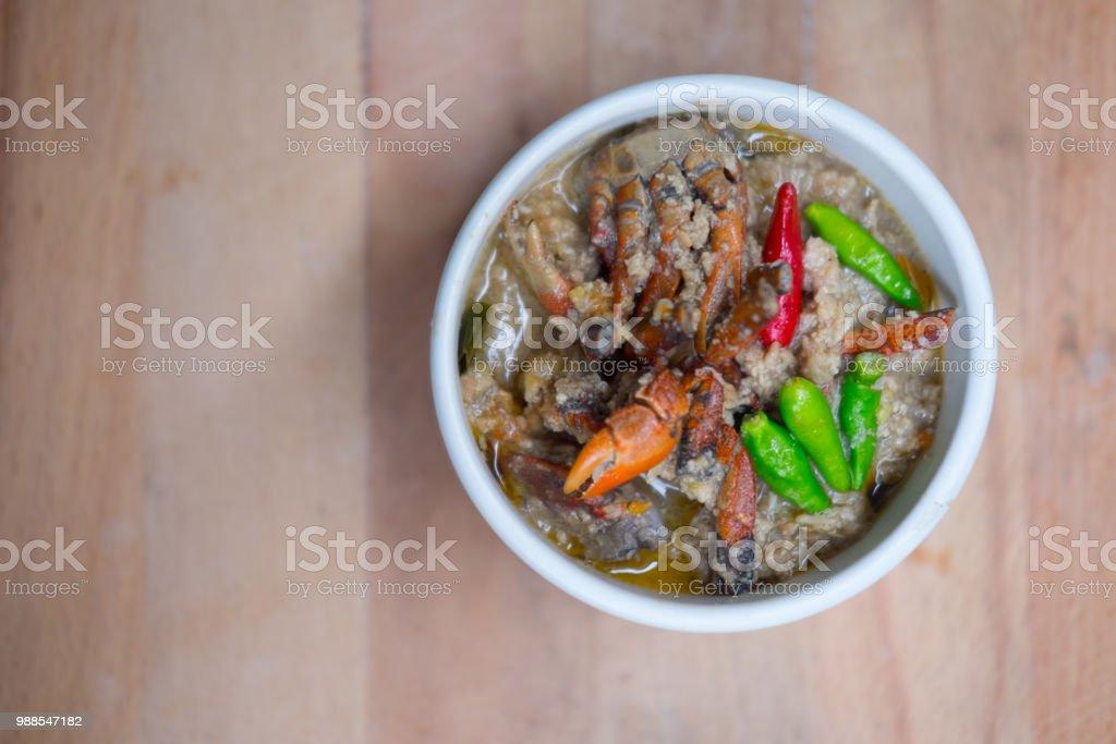 Krabbeneintopf Oder Krabben In Kokossuppe Oder Krabben Eintopf