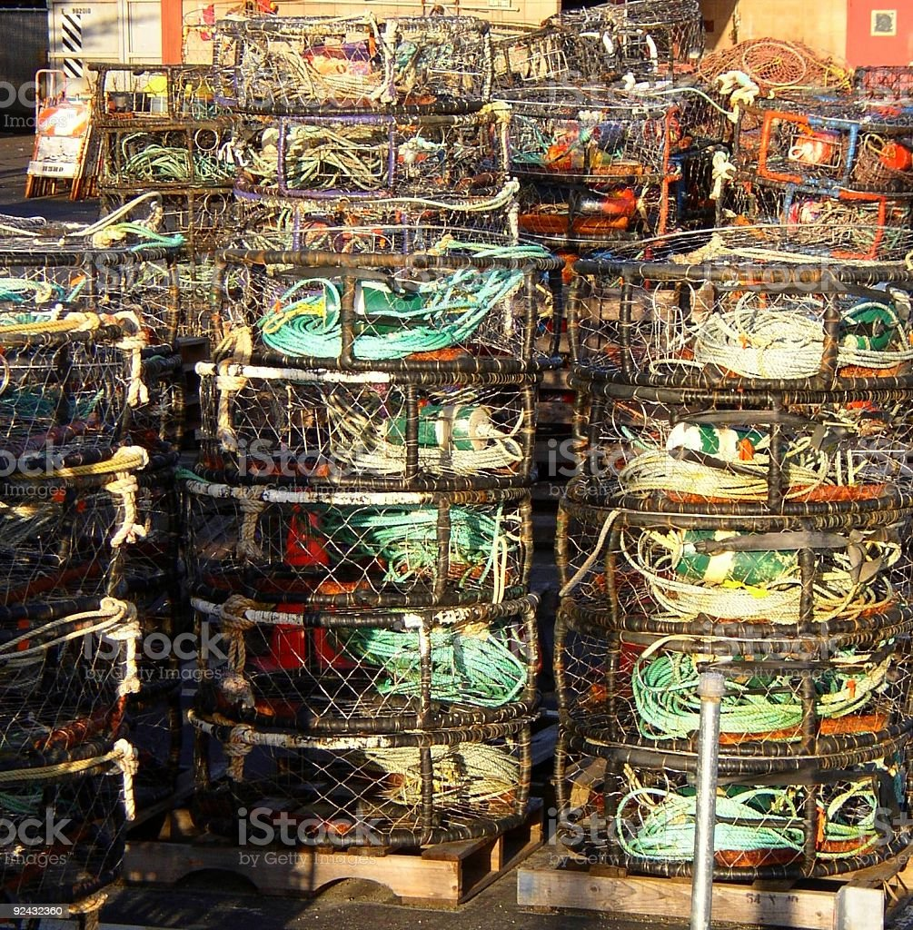 crab traps #2 stock photo