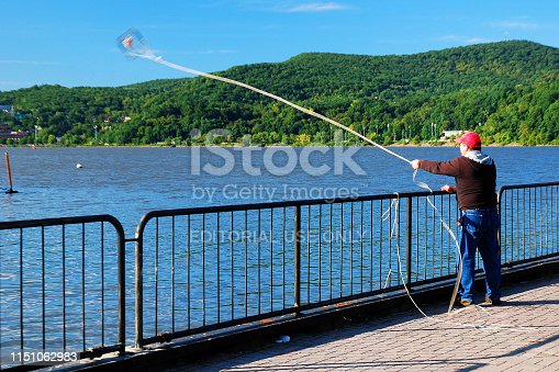 872969580istockphoto Crabbing from a park on the Hudson River 1151062983