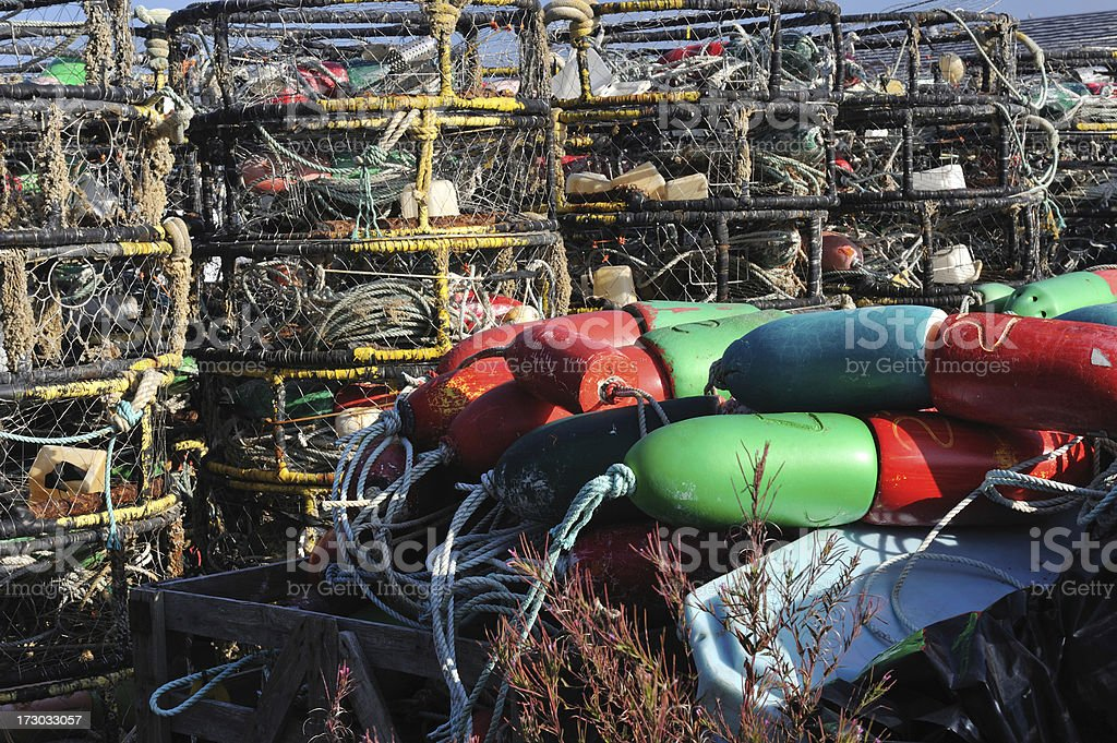 Crabbing Gear stock photo