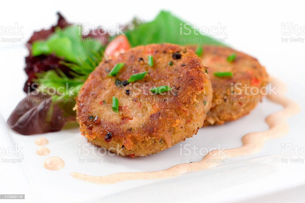 Crabcake Meal royalty-free stock photo