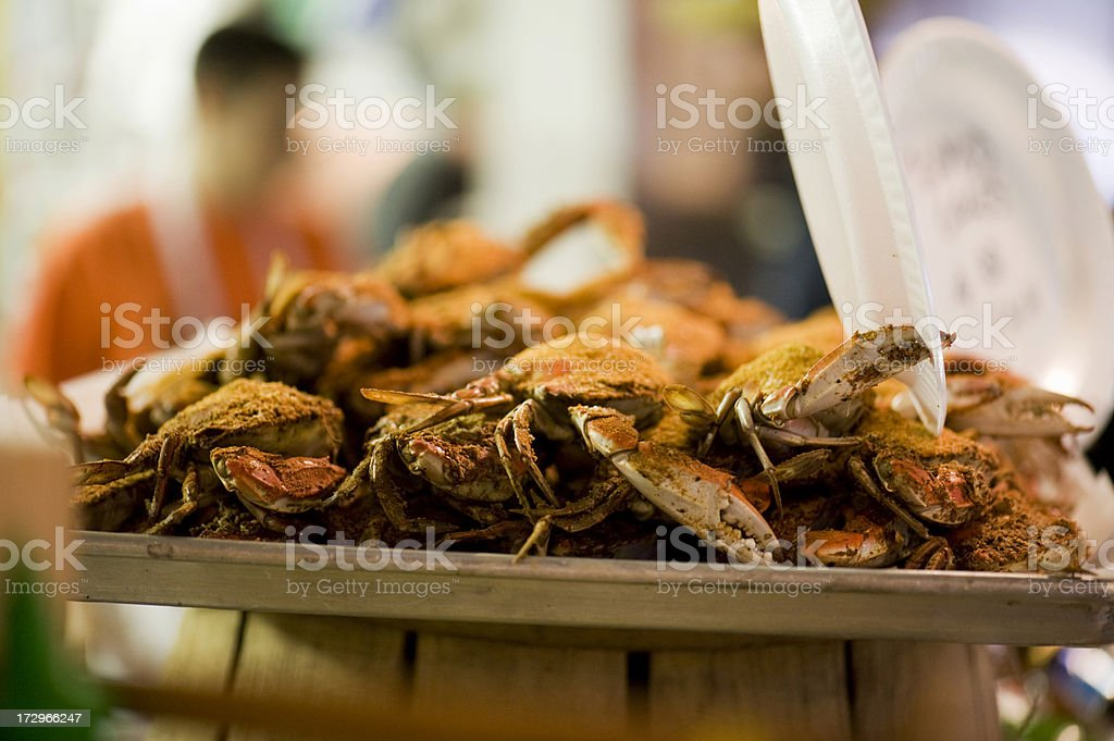 Crabs steamed and spiced stock photo