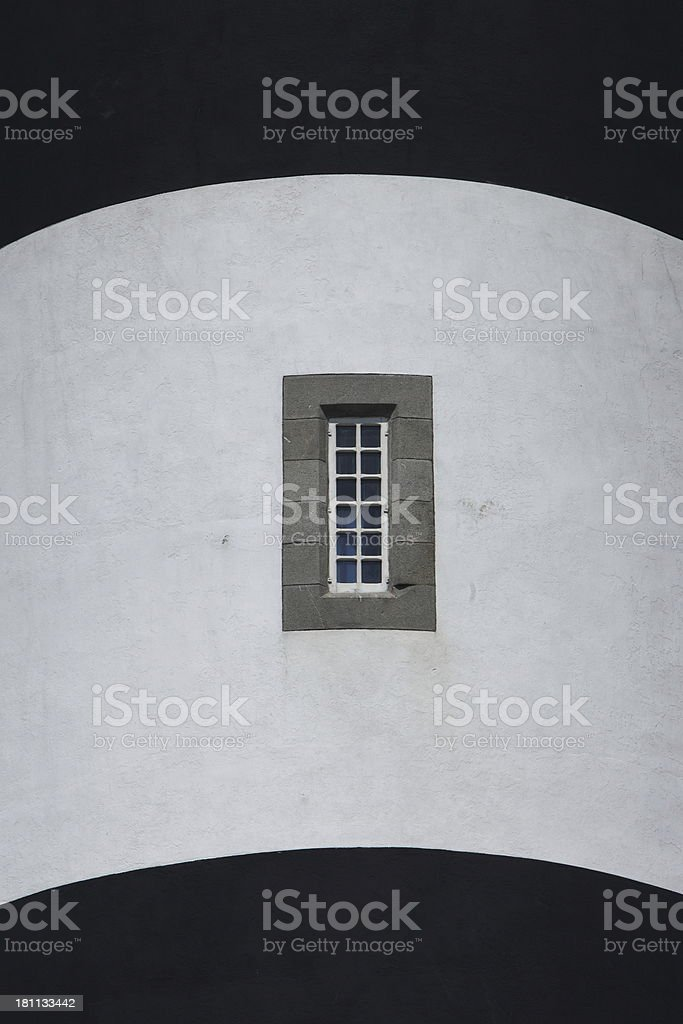 Créac'h lighthouse in Ouessant, France stock photo