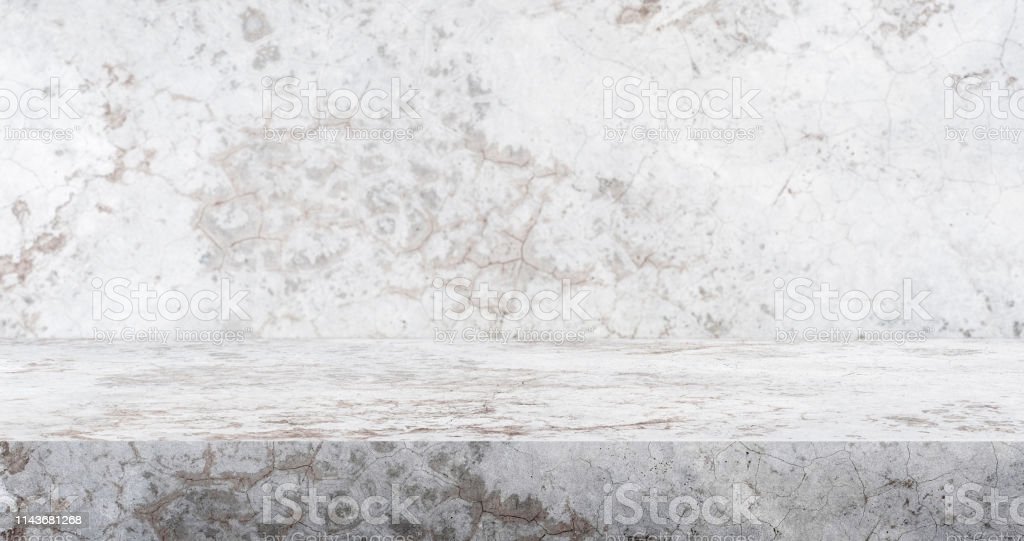 3d Crack Concrete Table Studio Background Textured For
