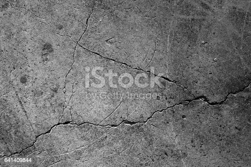 istock Crack concrete texture surface background. 641409844