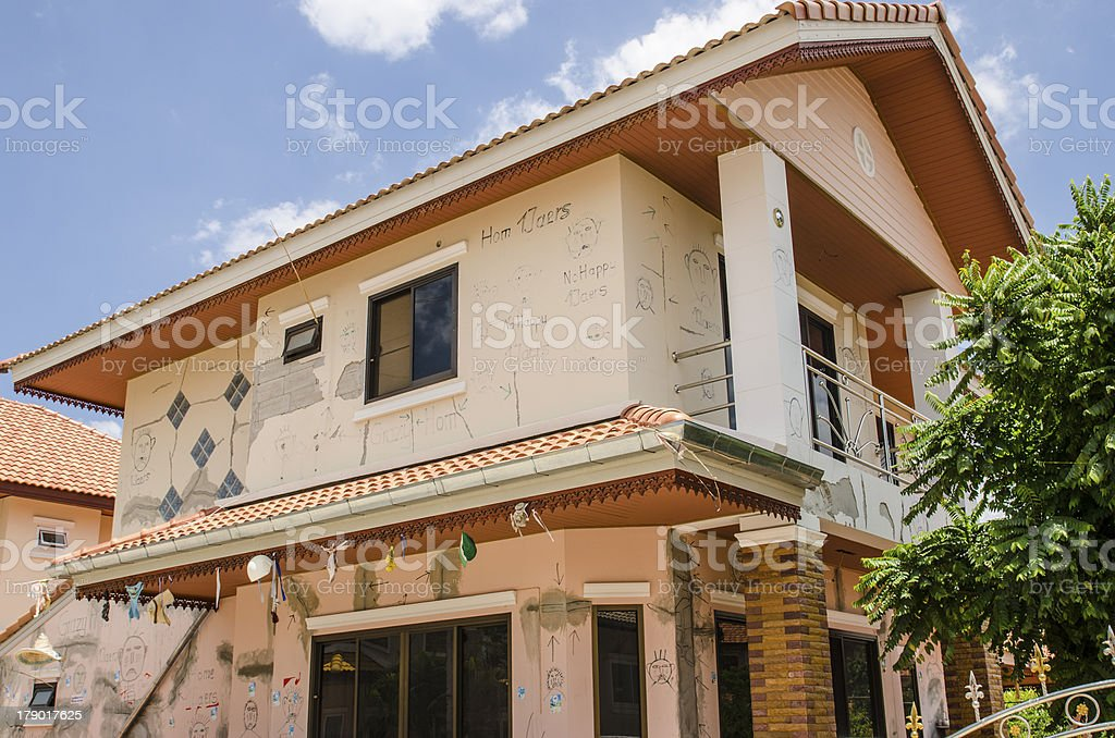 Crack house. royalty-free stock photo