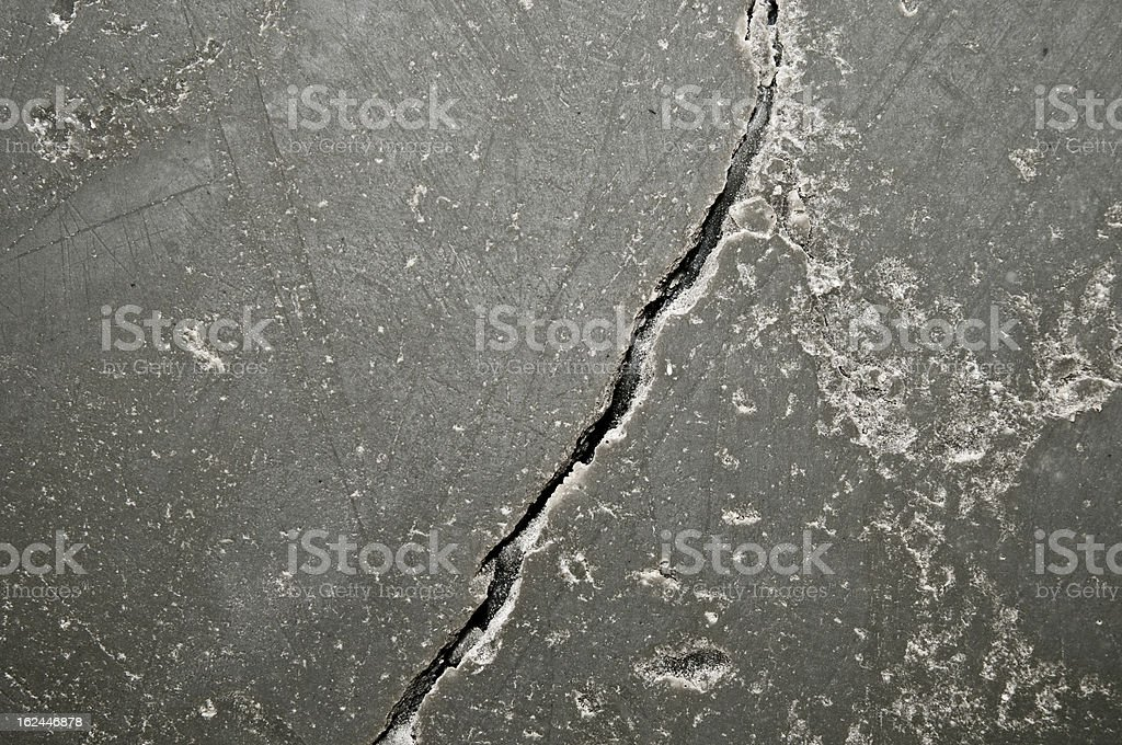 Crack in the concrete wall royalty-free stock photo