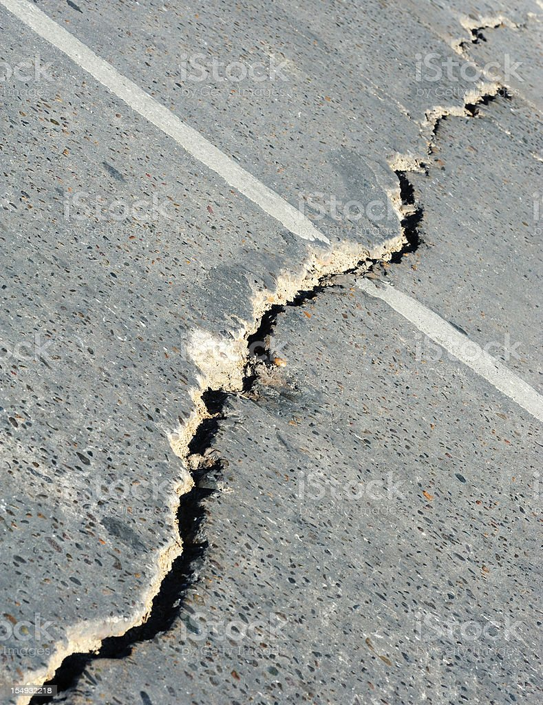 Crack in the street royalty-free stock photo
