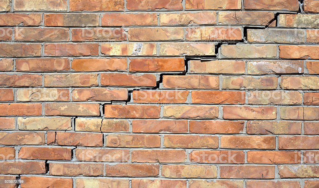 Crack in the wall stock photo