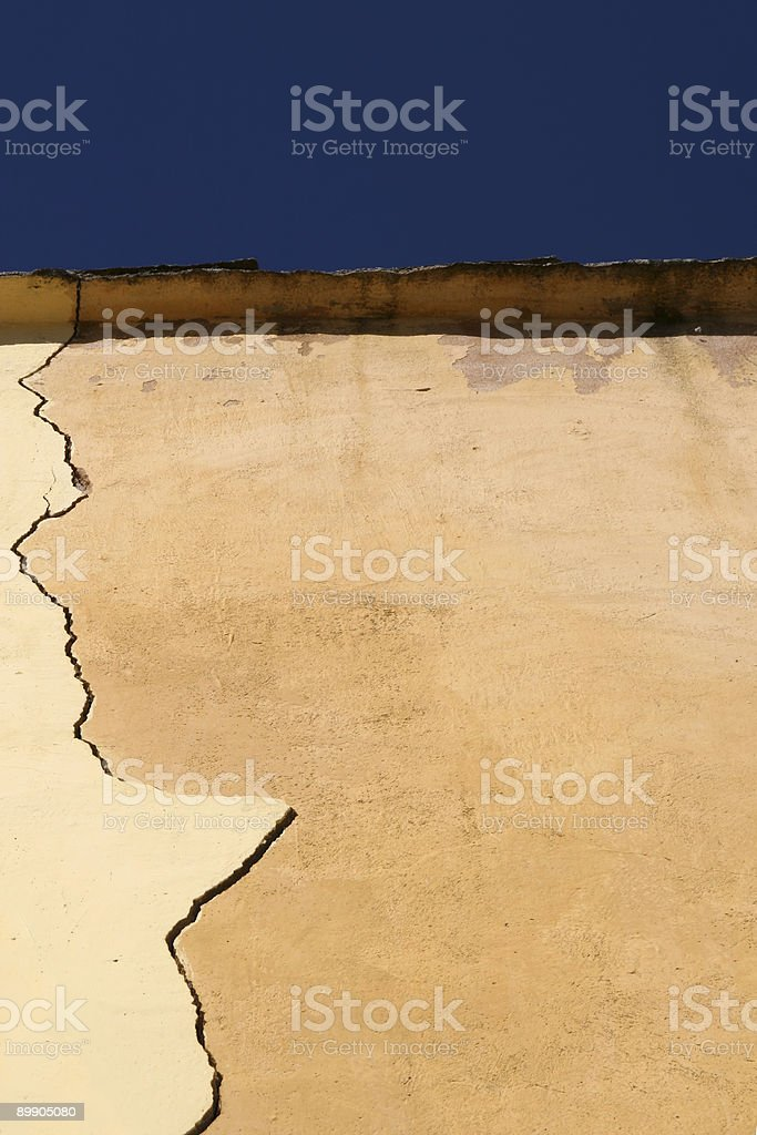 crack in the wall royalty-free stock photo