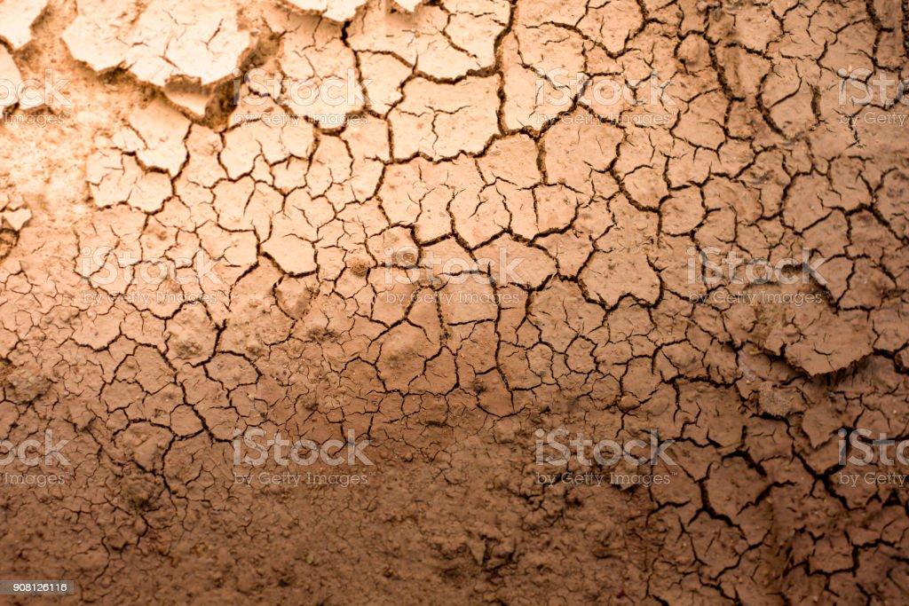 Riss des trockenen Boden Textur Hintergrund – Foto