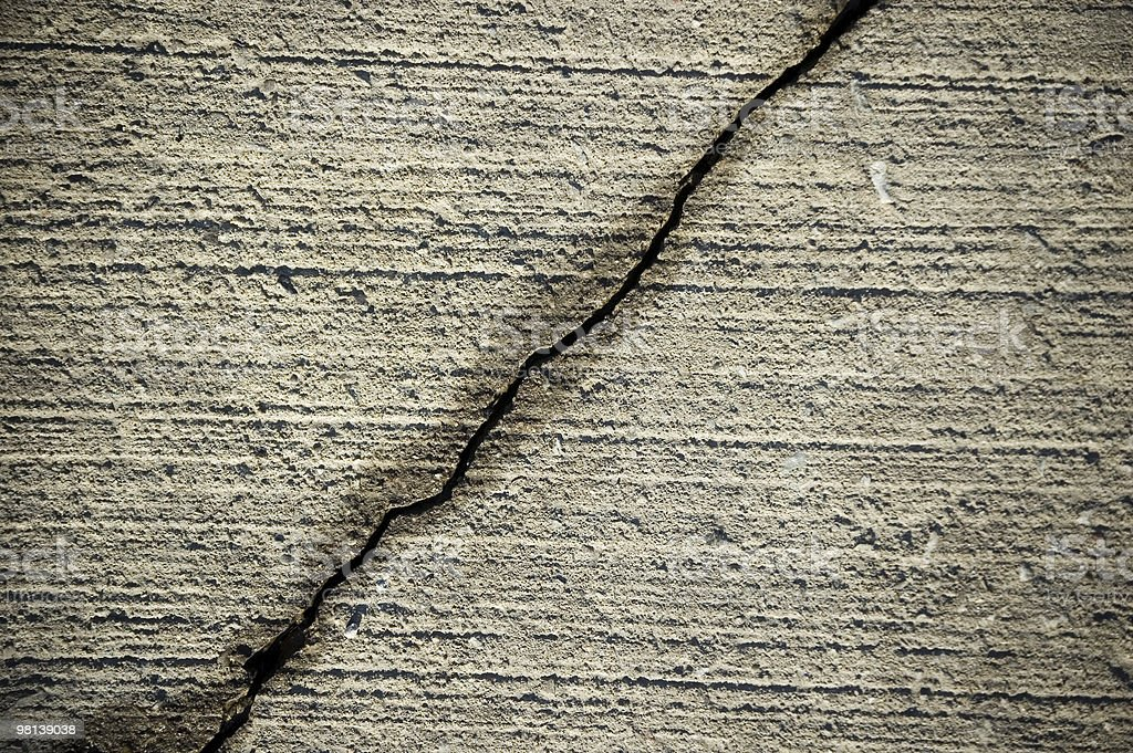 Crack on cement wall royalty-free stock photo