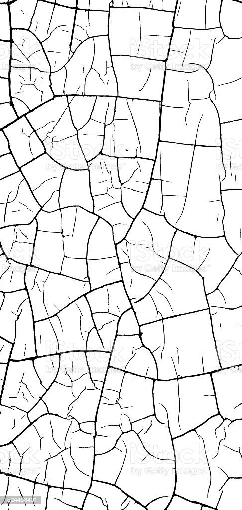 Crack Pattern On White Bump Alpha Map For 3d Use Stock Photo