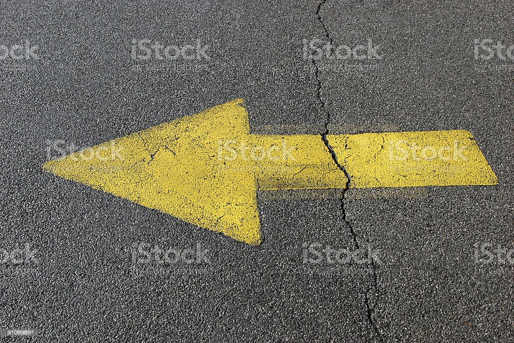 Cracked Arrow royalty-free stock photo