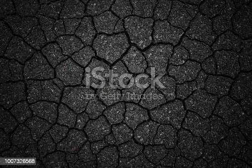 Cracked asphalt background.