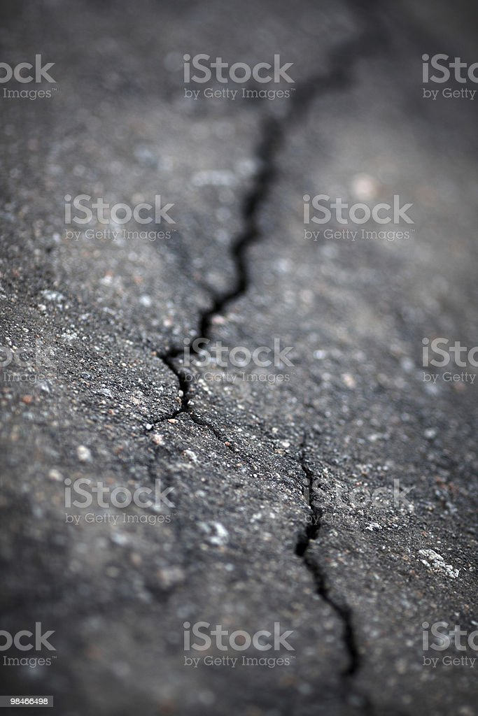 Cracked asphalt royalty-free stock photo