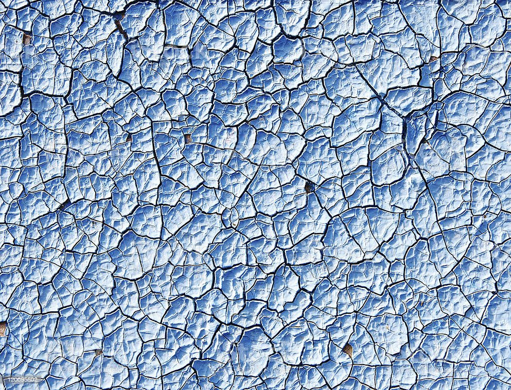 cracked blue surface royalty-free stock photo