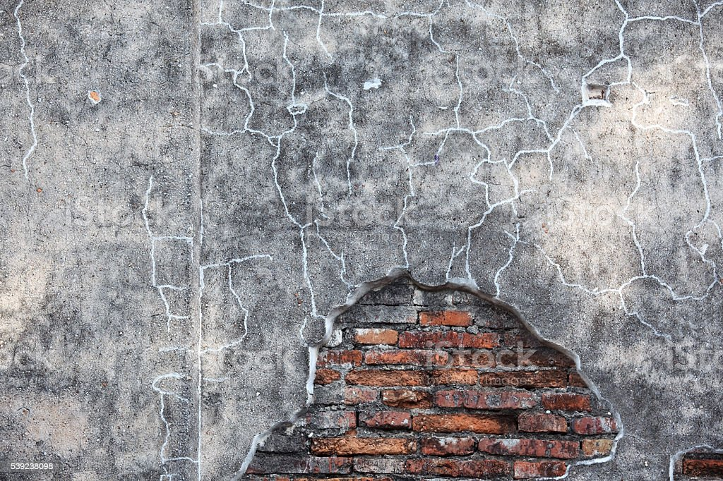 cracked brick wall as background. royalty-free stock photo