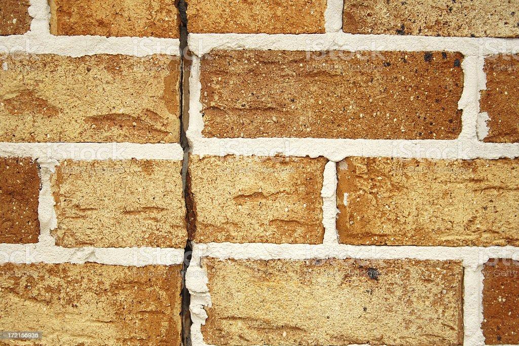 cracked brick wall (horizontal) royalty-free stock photo