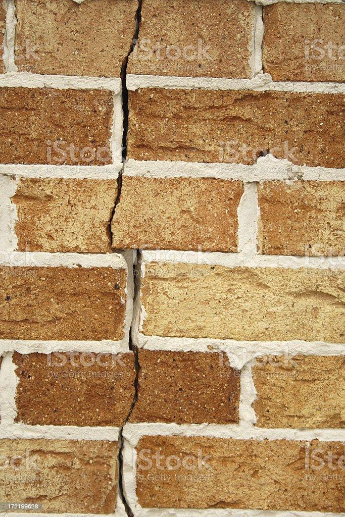 cracked brick wall royalty-free stock photo