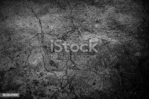 istock Cracked cement background 503845892