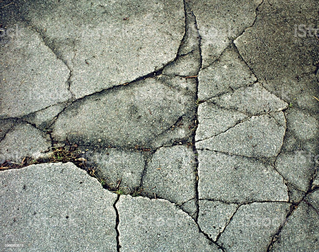 Cracked Cement royalty-free stock photo