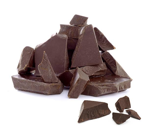 cracked chocolate pile - pure chocola stockfoto's en -beelden