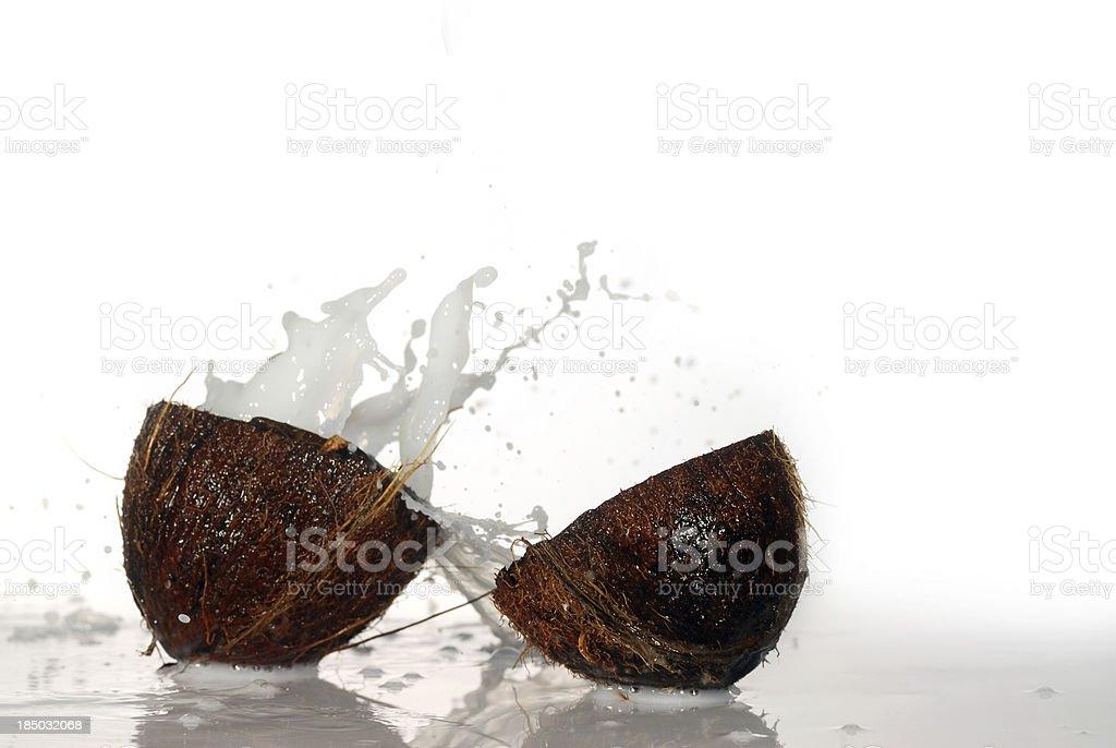 cracked coconut royalty-free stock photo