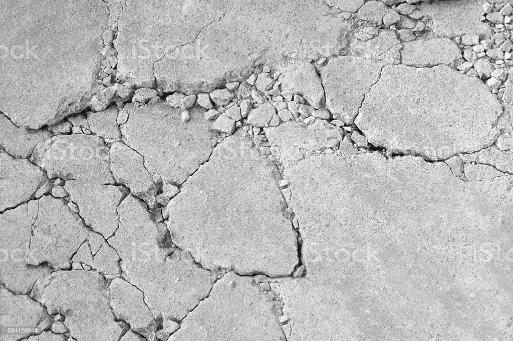 cracked concrete background stock photo