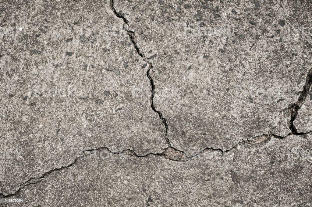 cracked concrete floor - crack in wall - broken stone texture