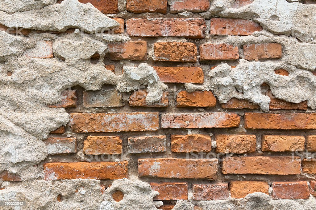 cracked concrete vintage brick wall background royaltyfri bildbanksbilder