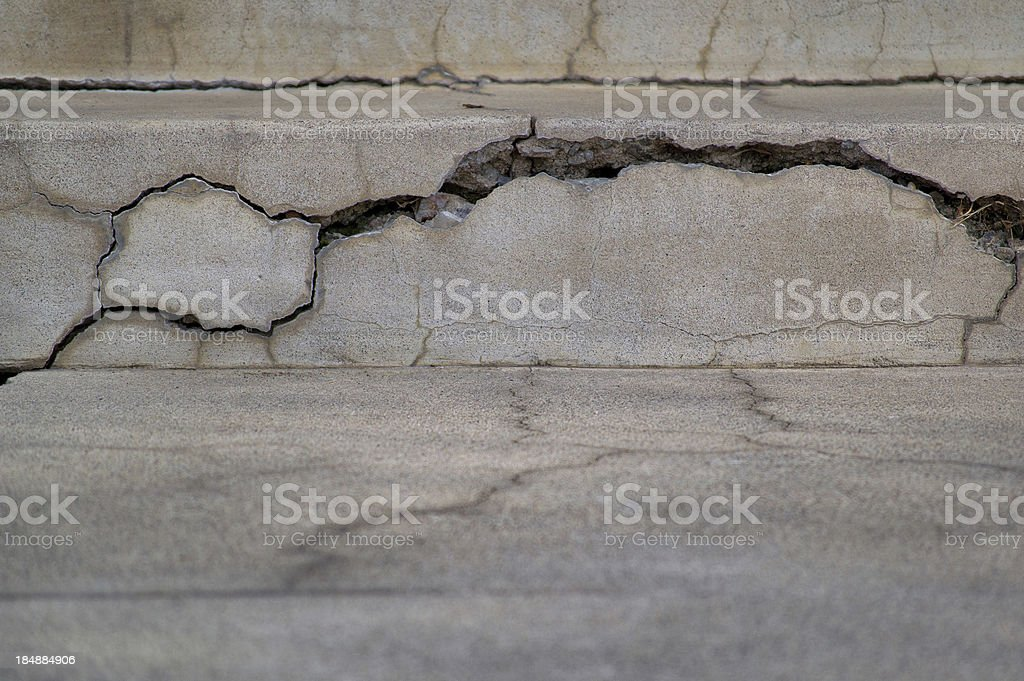 Cracked Concrete with texture royalty-free stock photo