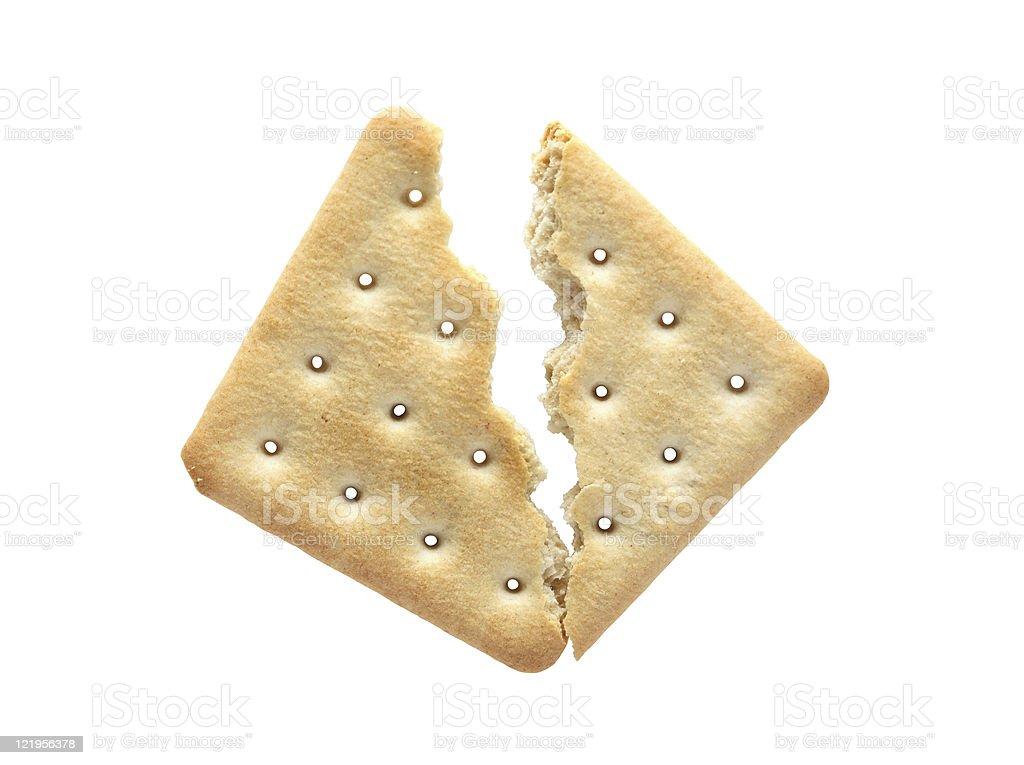 Cracked Cracker stock photo