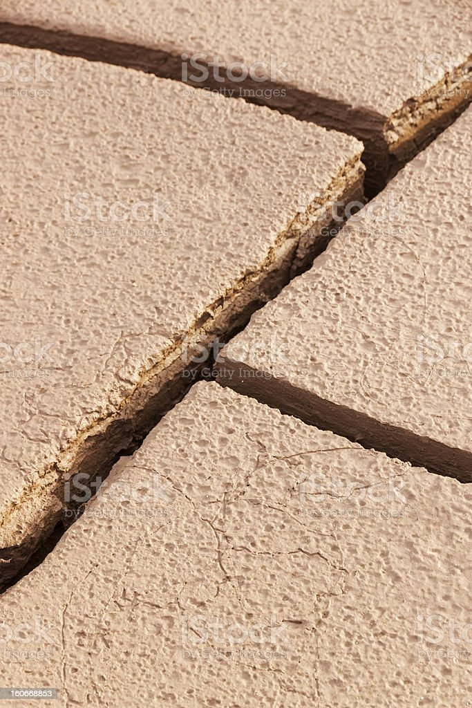 Cracked dry soil background royalty-free stock photo